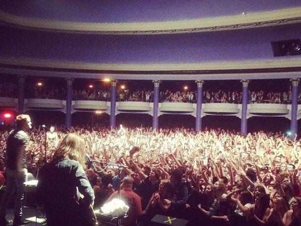 Imagine Dragons tweeted out this photo after its show at The Rave with the following message: #speechless.