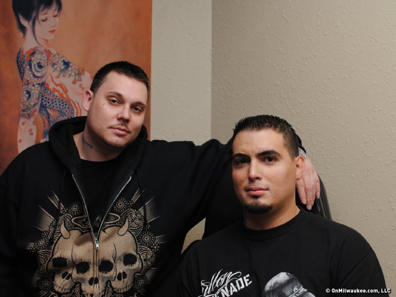 Ink 101 owners Alex Trevino and Phil Constantineau.