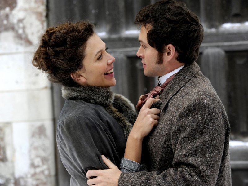 "Maggie Gyllenhaal and Hugh Dancy star in ""Hysteria."""