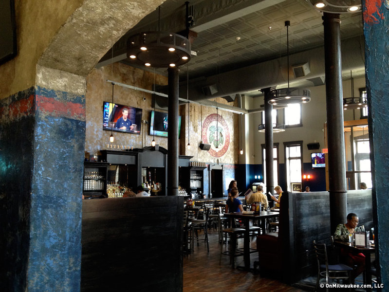 The Blue Ribbon Pub is part of Gorman & Co.'s Brewhouse Inn & Suites in the old Pabst brewery.