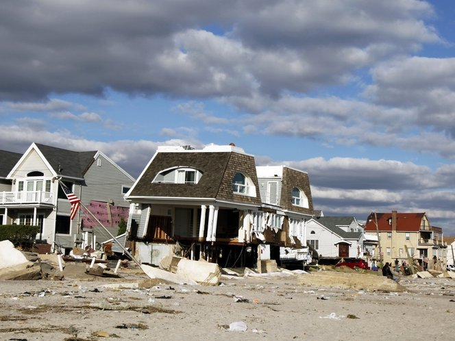 Superstorm Sandy caused an estimated $50 billion in economic damages, including about $10 billion to $20 billion of insured losses.