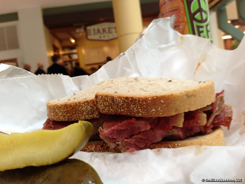 Jake's famous corned beef on rye.