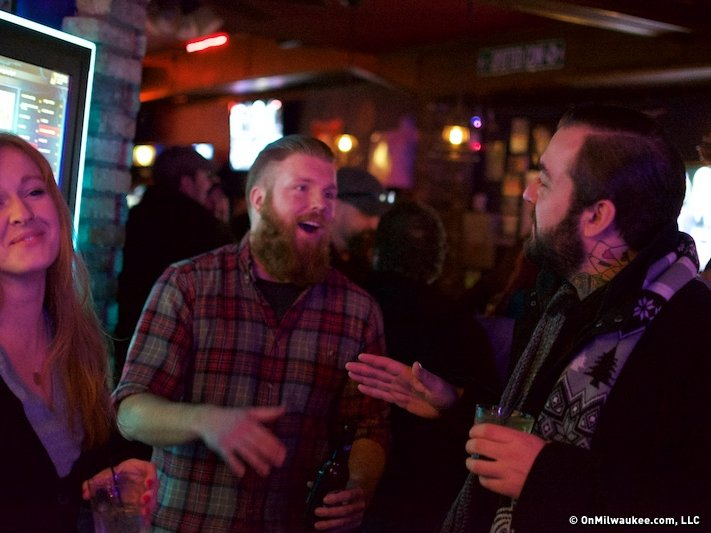 Lee Guk (right) of Lucky Joe's Tiki Lounge breaks it down.