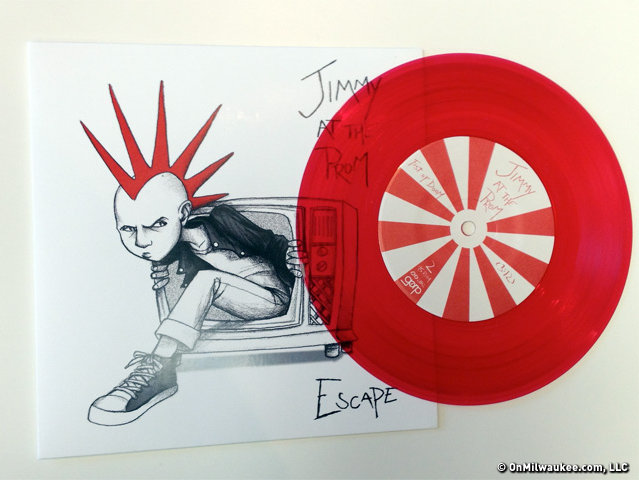 "Jimmy at the Prom's new limited edition red vinyl 7"" was produced by Chuck Garric."