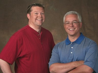 John Jagler, left, is leaving his morning show co-host Gene Mueller.