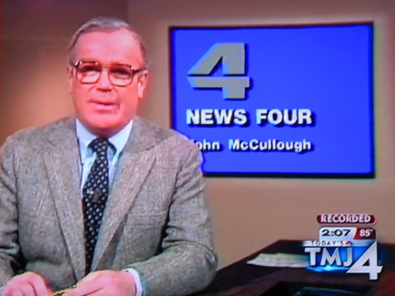 Channel 4 led its 10 p.m. news with coverage of the death of its iconic anchor, John McCullough.
