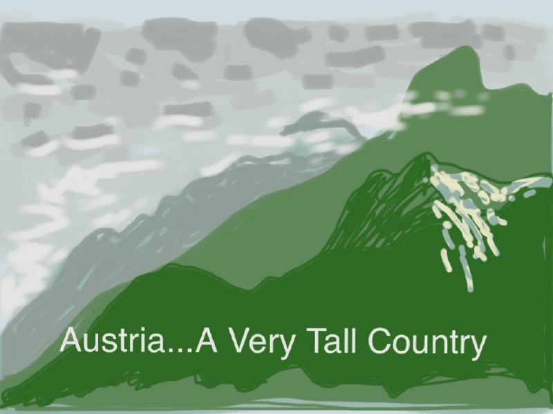 A very accurate map of Austria.