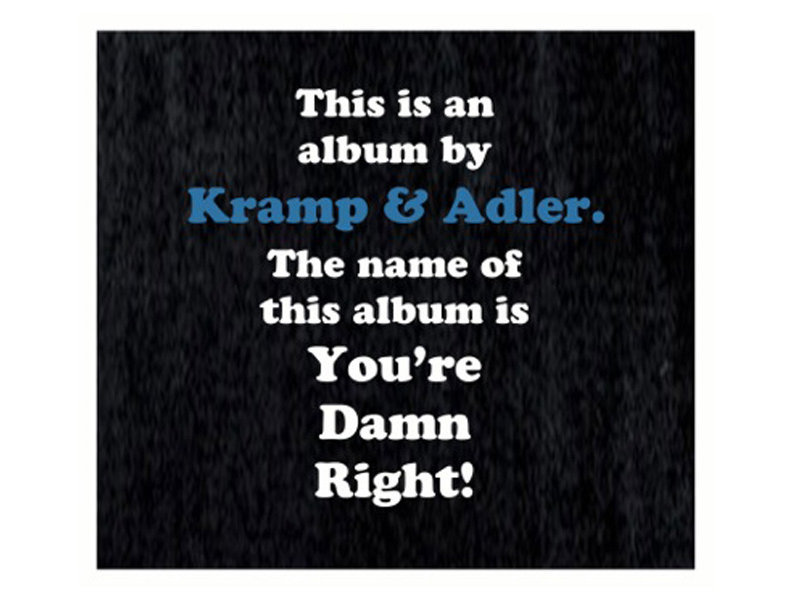 Kramp and Adler's holiday CD benefited the This Time Tomorrow Foundation.