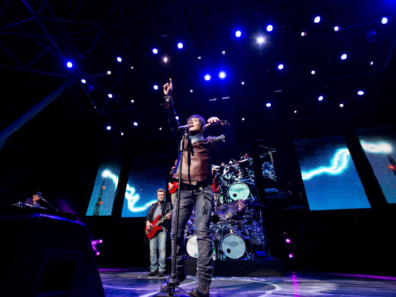 Journey's 46-year-old frontman Arnel Pineda brings a youthful vibrancy to the classic rock band.