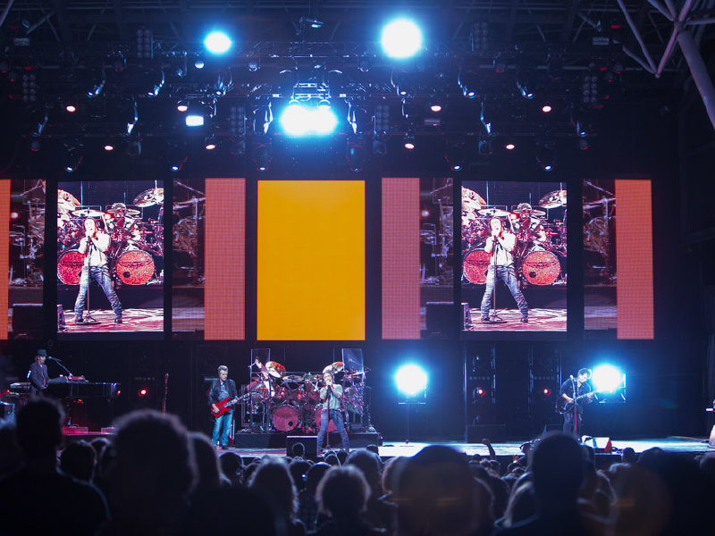 Journey served a steady stream of its classics Wednesday night at the BMO Harris Pavilion.