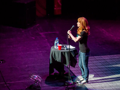 D-List comedian Griffin brings her A-game to the Riverside