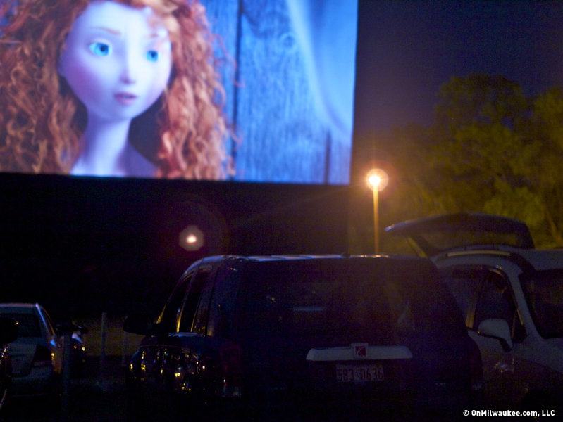 Movies under the stars outside Kenosha.