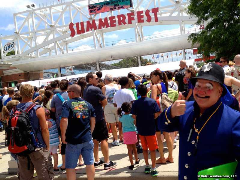 Tuesday was kids day at Summerfest and free admission drew big crowds.