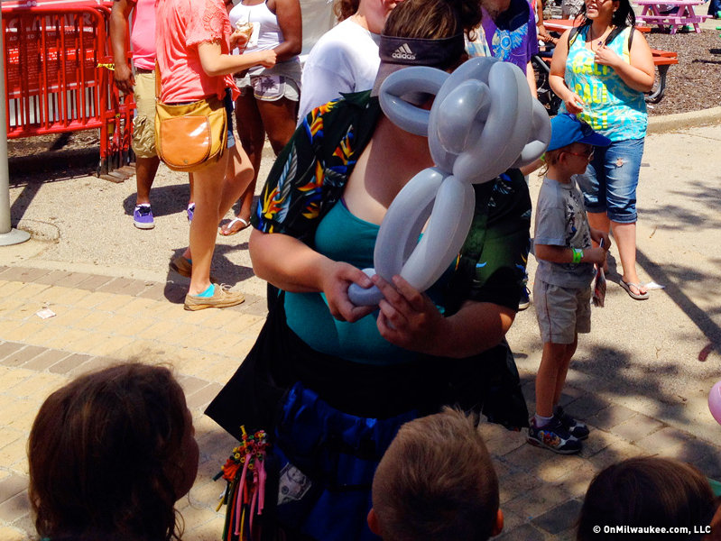 There were balloon folders, face painters, stilt walkers and others on hand to amuse kids of all ages.