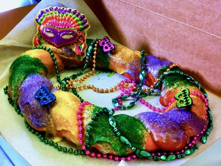 King Cake Is A Traditional Food To Eat For Mardi Gras