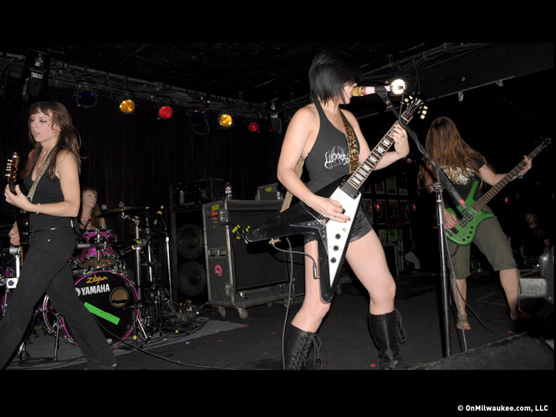 Kittie brought an energetic 16-song set to The Rave Sunday night.