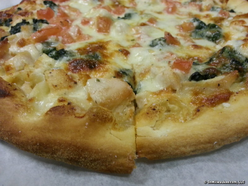 The alfredo pizza on original crust.
