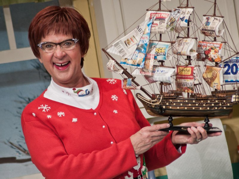 "John McGivern is Earlene Hoople in ""A Kodachrome Christmas"" at the Marcus Center."