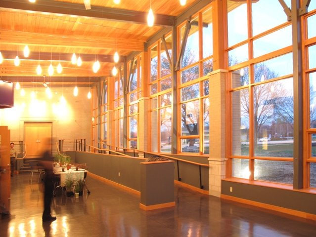 An interior view of the St. John's Welcome Center.