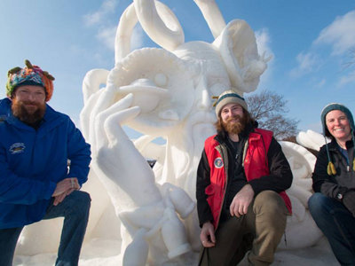Chilly chiselin' fans take note: U.S. Snow Sculpting Competition kicks off today Image