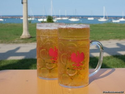 A cheers to the bond between beer and Lake Michigan