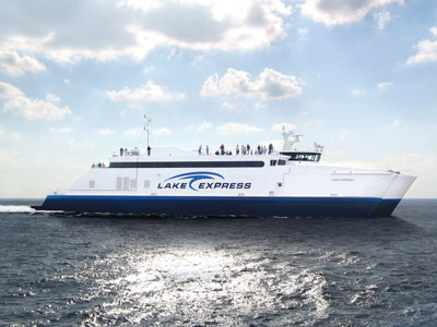 All aboard the eco-friendly Lake Express ferry