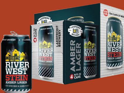 As part of rebrand, Lakefront Brewery to offer new-look Riverwest Stein in cans