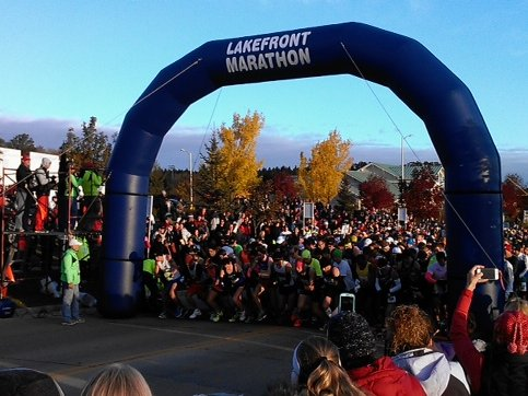 The 2012 Lakefront Marathon was up and running bright and early this past Sunday.