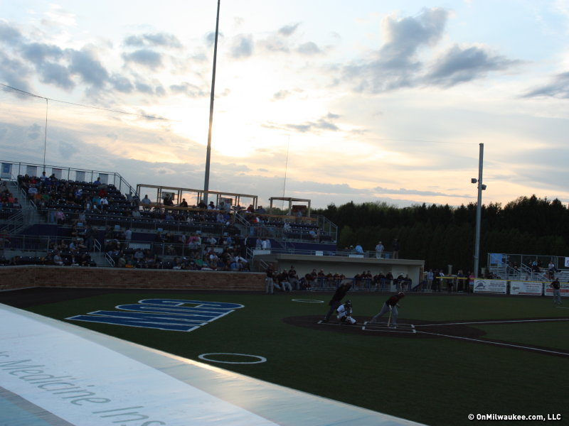 The Lakeshore Chinooks season home opener was last night at Kapco Park in Mequon.