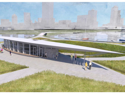 Friends of Lakeshore State Park show plan for new visitor and education center