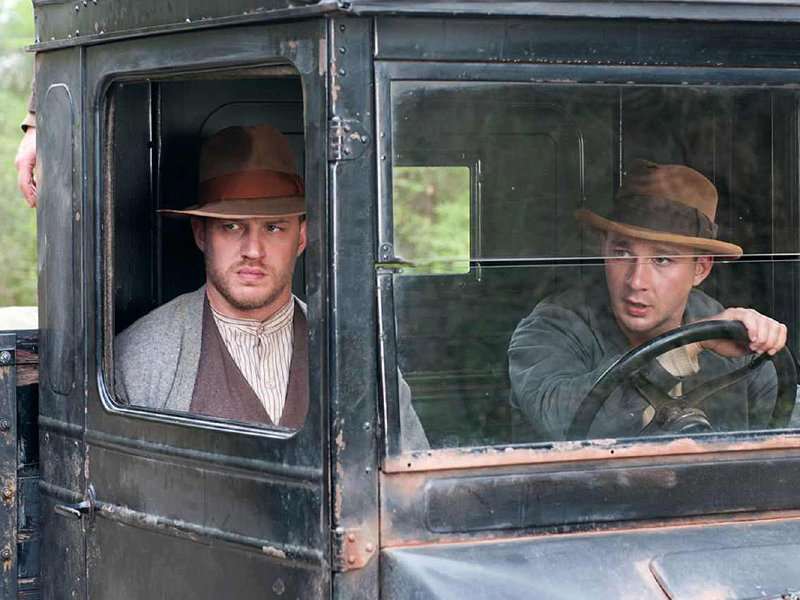 "Tom Hardy and Shia LaBoeuf star in ""Lawless,"" in theaters now."