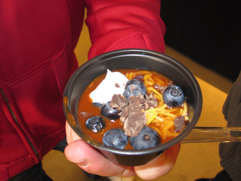 The Milwaukee Chili Bowl had some unique recipes like this one that contained blueberries.