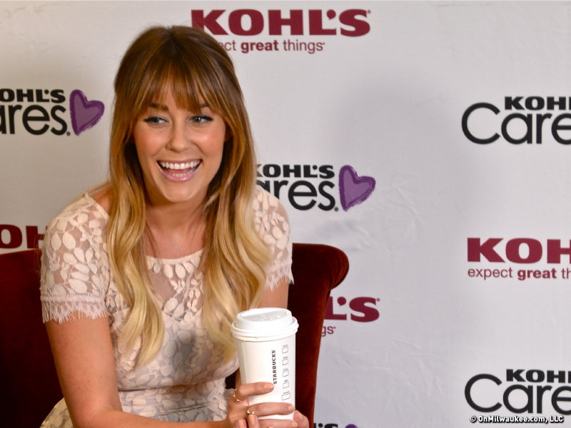 Lauren Conrad smiles at Boswell Book Company on Wednesday evening.