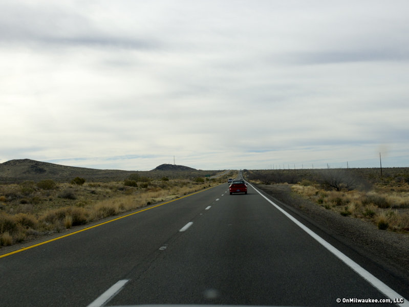 Blogging from the passenger seat, speeding through the desert.