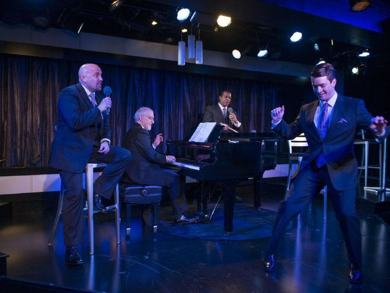 "Eric Jon Mahlum, Richard Carsey, Rob Tucker  and Andrew M. McMath in ""I Left My Heart: A Salute to the Music of Tony Bennett."""