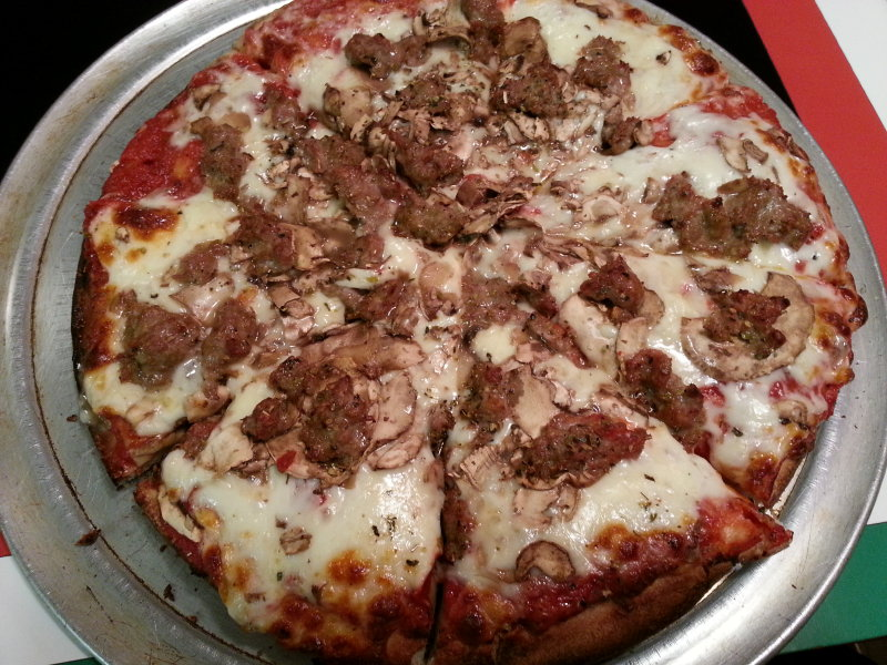 Leonardo's Pizza Parlor is one of the few in the area that makes Sicilian-style pizza.