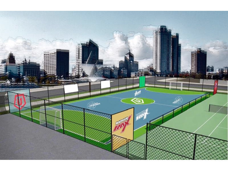 Lincoln park tennis courts being converted for futsal for Sport court utah
