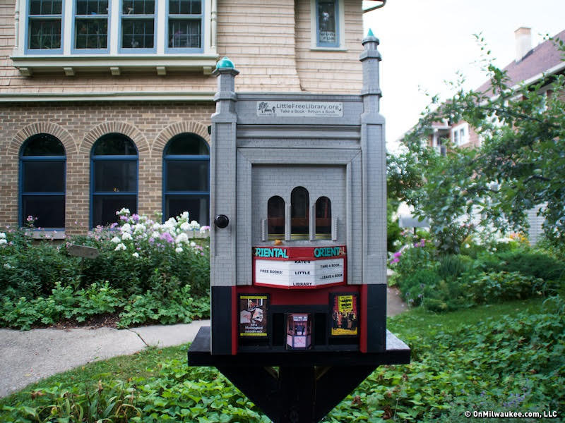 You guys! There\'s a Little Free Library shaped like the Oriental ...