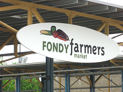 The Fondy Farmers Market, located on Fond du Lac Avenue just north of North Avenue, is the only farmers market directly serving Milwaukee's central city.