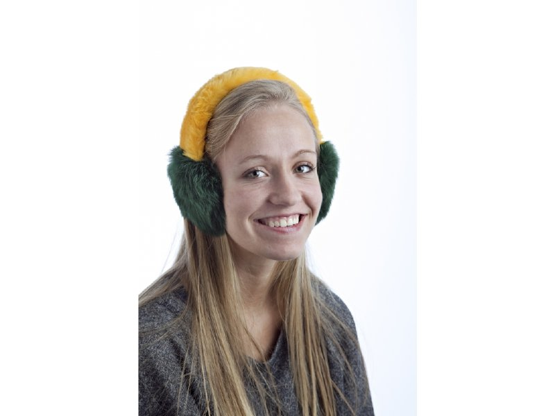 Green and gold ear muffs for your favorite fan.