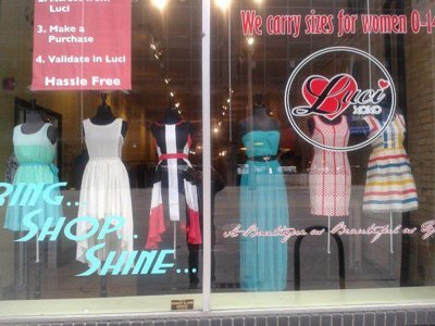 Donate clothes, get 30 percent off, $25 gift card at Luci Boutique