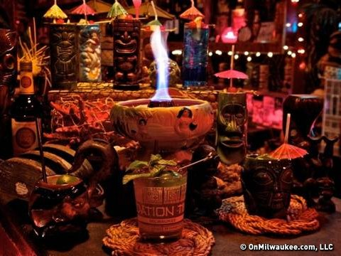Photo taken at The Foundation, a Riverwest tiki bar.