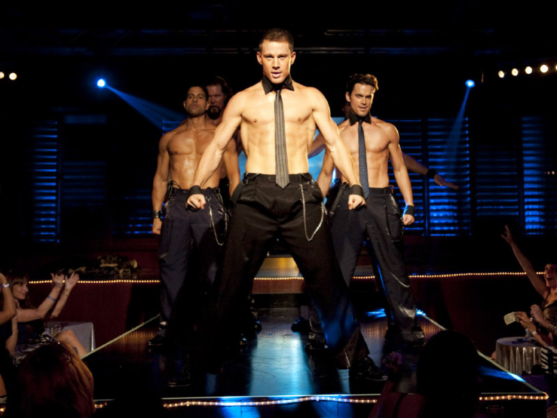 "Channing Tatum and company take it off in ""Magic Mike,"" in theaters now."