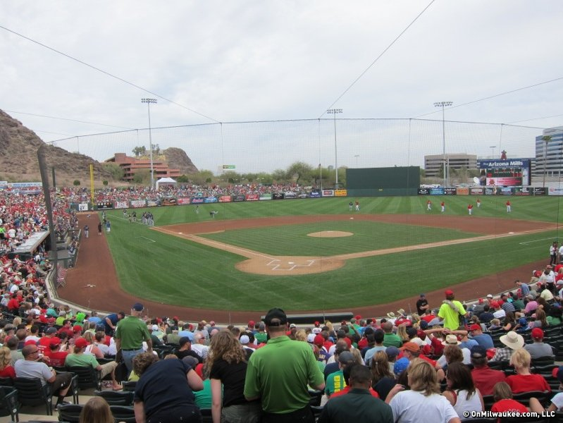 The Brewers at Tempe Diablo Stadium.
