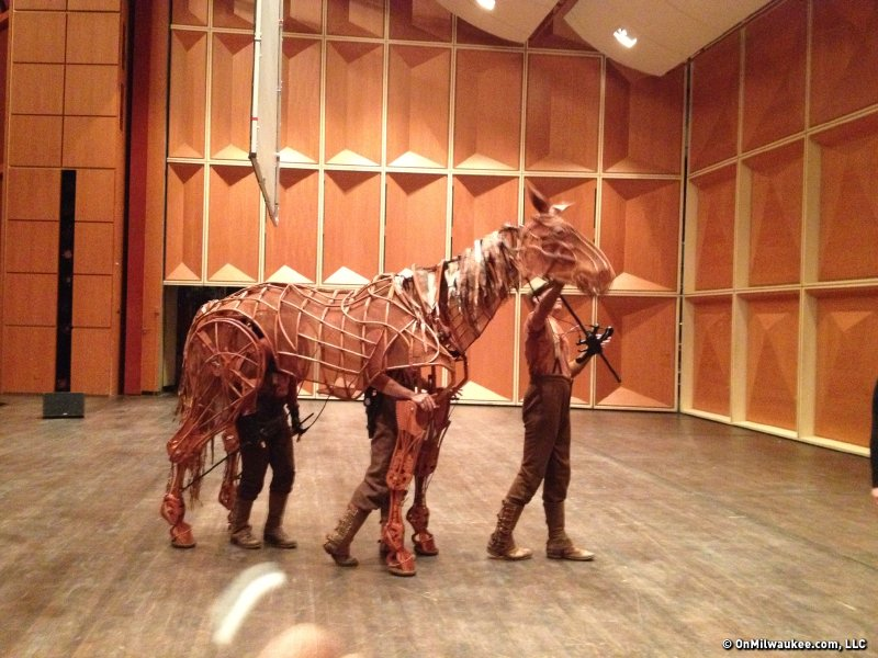 "Joey, the Tony Award-winning puppet from ""War Horse"" is brought to life by three dedicated actors."