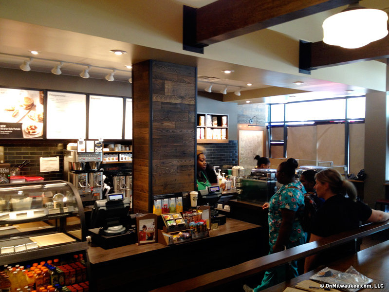 A full-service Starbucks is connected to the hotel on Wisconsin Avenue.