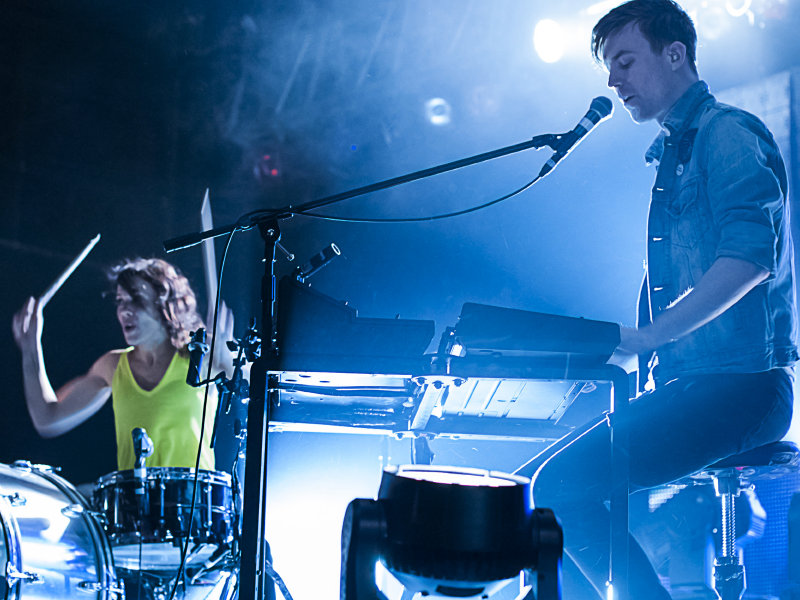 Indie pop duo Matt & Kim add color (and confetti) to The Rave Thursday night.