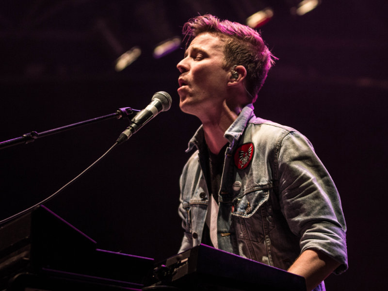 Matt & Kim performed Friday night at the U.S. Cellular Stage.