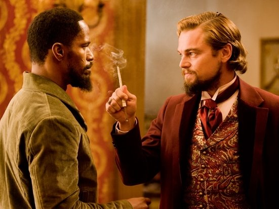 "Jamie Foxx and Leonardo DiCaprio star in ""Django Unchained."""