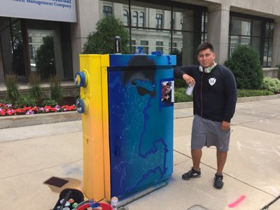 Meet Mauricio Ramirez, the artist behind the Wisconsin Avenue utility box murals
